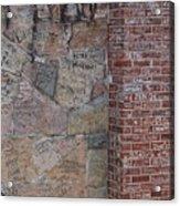 Graffiti Wall Graceland Memphis Tennessee Acrylic Print