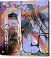 Graffitis Front Door Acrylic Print