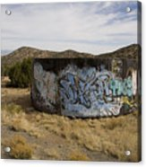 Grafitti In The Middle Of Nature Acrylic Print