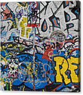 Grafitti On The U2 Wall, Windmill Lane Acrylic Print