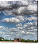 Grain Barn And Barley Field Acrylic Print