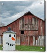 Grain Bin With Smile Acrylic Print