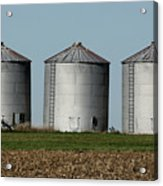 Grain Bins In A Row Acrylic Print