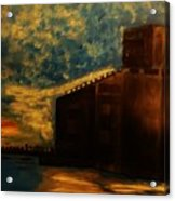 Grain Elevator On Lake Erie From A Photo By Nicole Bulger Acrylic Print by Marie Bulger