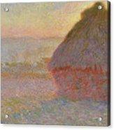 Grainstack, Sunset Acrylic Print