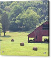 Grampa's Summer Barn Acrylic Print by Jan Amiss Photography
