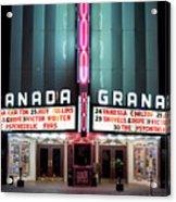 Granada Marquee Dallas Acrylic Print