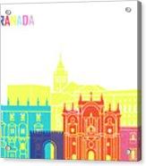 Granada Skyline Pop Acrylic Print