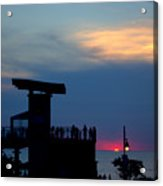 Grand Bend Silhouettes Acrylic Print