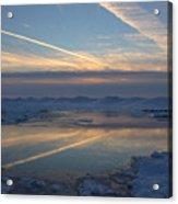 Grand Bend Winter Reflections 2 Acrylic Print