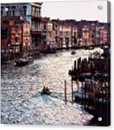 Grand Canal At Sunset Acrylic Print