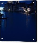 Grand Canal In Venice At Night Acrylic Print