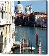 Grand Canal In Venice From Accademia Bridge Acrylic Print by Michael Henderson