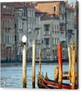 Grand Canal In Venice With Light On Pole Acrylic Print