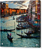 Grand Canal Sunset Acrylic Print