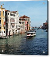Grand Canal View At The Academy Bridge Acrylic Print