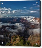 Grand Canyon Fog Acrylic Print