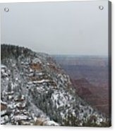 Grand Canyon In Snow Acrylic Print