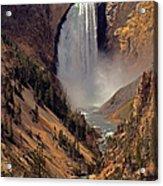 Grand Canyon Of The Yellowstone Acrylic Print by Robert Pilkington