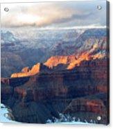 Grand Canyon With Snow Acrylic Print