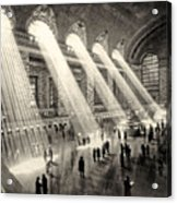 Grand Central Terminal, New York In The Thirties Acrylic Print