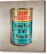 Grand Champion Motor Oil Acrylic Print