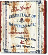 Grand Essentials Of Happiness Acrylic Print