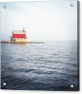 Grand Haven Lighthouse From North Pier Acrylic Print