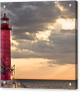Grand Haven Lighthouse Hdr Acrylic Print