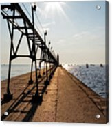Grand Haven Pier Acrylic Print