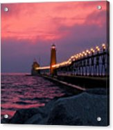 Grand Haven Sunset Acrylic Print