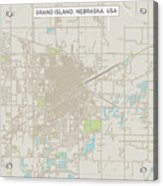 Grand Island Nebraska Us City Street Map Acrylic Print