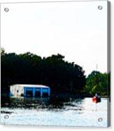 Grand Lake Boat Dock Acrylic Print
