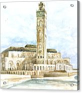 Grand Mosque Hassan II  Front Side Acrylic Print