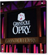 Grand Ole Opry House In Nashville, Tennessee. Acrylic Print