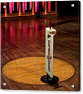 Grand Ole Opry House Stage Flooring - Nashville, Tennessee Acrylic Print