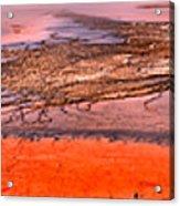 Grand Prismatic Algae Mat Panorama Acrylic Print