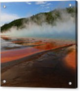 Grand Prismatic Spring Colors Acrylic Print