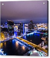 Grand Rapids At Night Acrylic Print