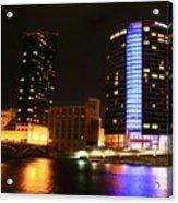 Grand Rapids Mi Under The Lights-4 Acrylic Print