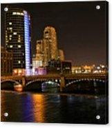 Grand Rapids Mi Under The Lights Acrylic Print