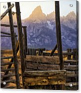 Grand Teton Framed Acrylic Print
