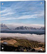 Grand Teton Mountain Range Acrylic Print