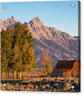Grand Teton Mountain View Acrylic Print