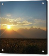Grand Teton Open Plains Sunset Acrylic Print