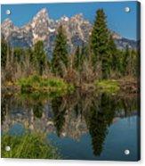 Grand Teton Range In Late Summer Acrylic Print