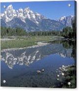 Grand Teton Reflection At Schwabacher Landing Acrylic Print