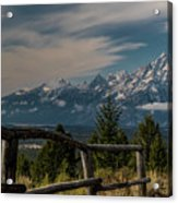 Grand Teton Signal Mountain Acrylic Print