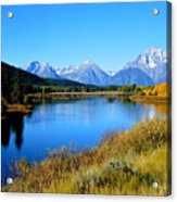 Grand Tetons 1 Acrylic Print by Carrie Putz