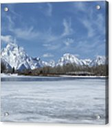 Grand Tetons And Snake River From Oxbow Bend Acrylic Print